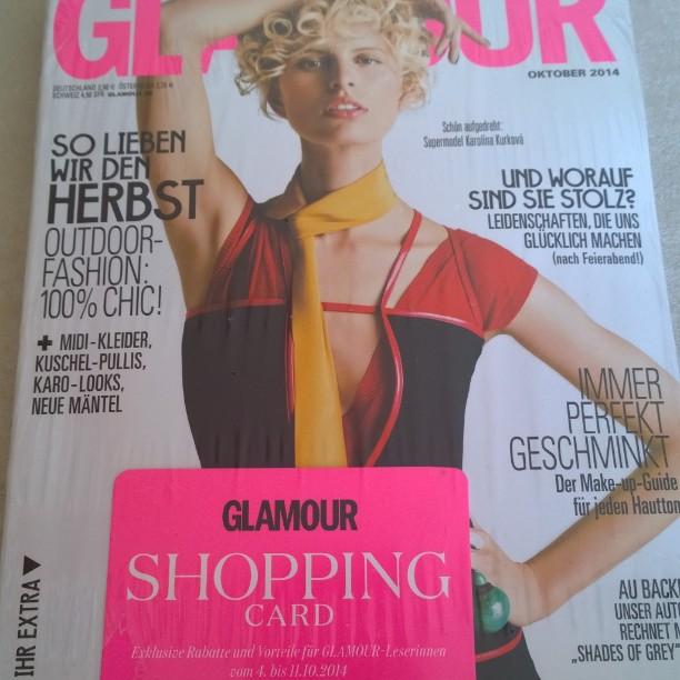 Die Shopping Card kam heute schon an ! :-)#Glamour #Shoppingweek #shoppen #Shoppingcard #October2014